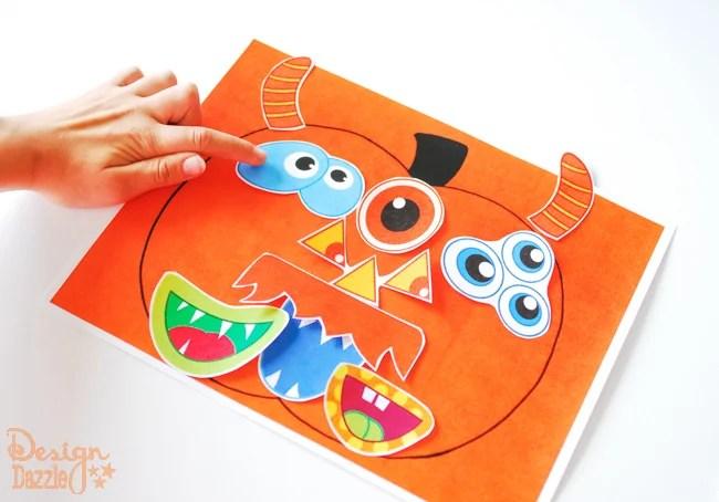 Printable Pumpkin Faces - Kids Halloween Activity - Design Dazzle