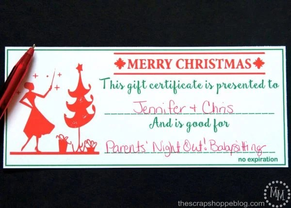 Christmas Gift Certificates - Design Dazzle - printable christmas certificates