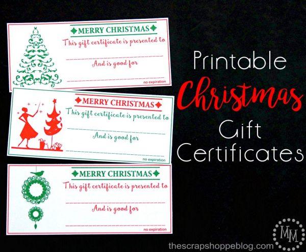 Christmas Gift Certificates - Design Dazzle - printable christmas certificates