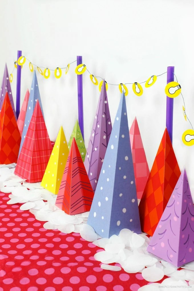 Colorful Christmas Tree Lot Free Download - Design Dazzle