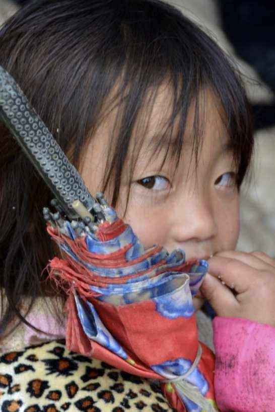 Small child in North Vietnam