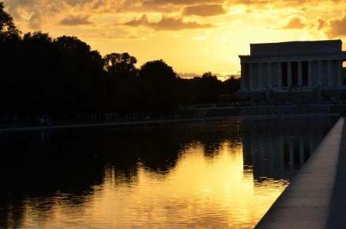 Lincoln Memorial at Sunset Washington DC