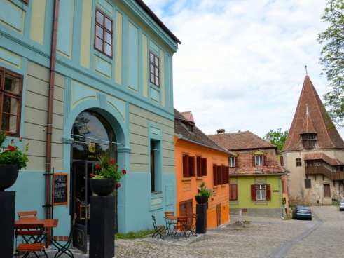 quaint Saxon town in Romania