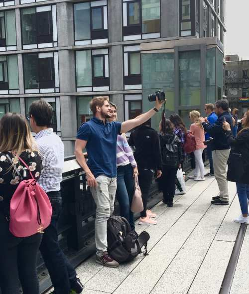 Taking a Selfie on the High Line