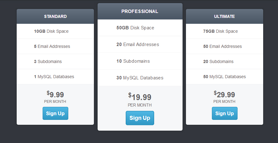 15 Excellent Free HTML CSS Pricing Table Templates - DesignDune