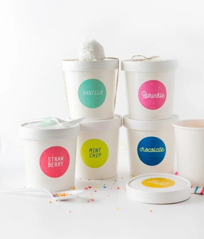 Free Printable Ice Cream Labels - Design Eat Repeat