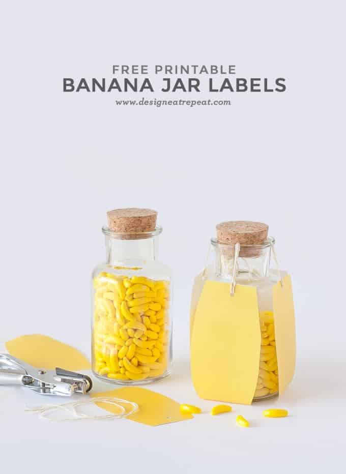 Free Banana Printable Candy Jar Labels