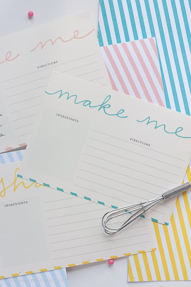 Free Printable Recipe Cards from Design Eat Repeat