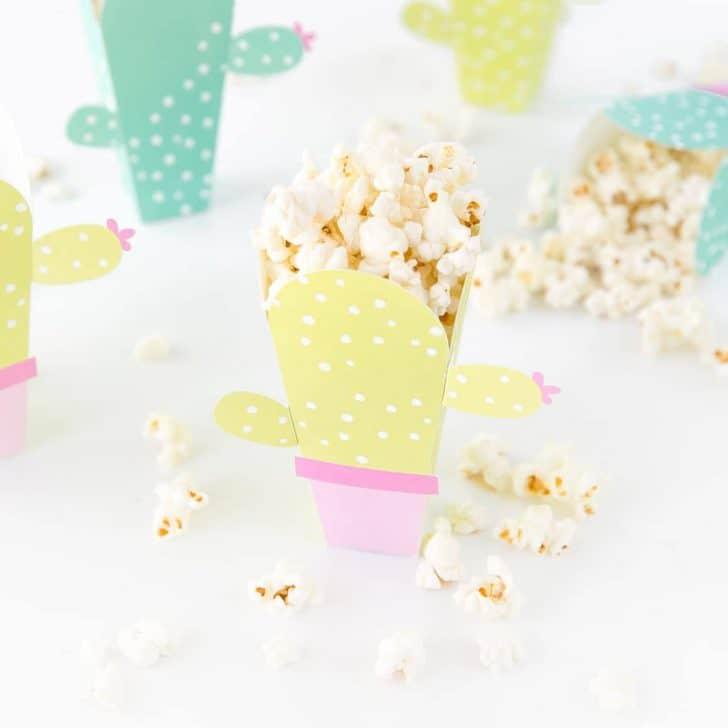 Free Printable Popcorn Box Template - Design Eat Repeat