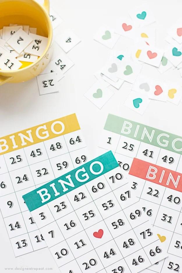 Printable Bingo Cards - Game Night Idea! - Design Eat Repeat
