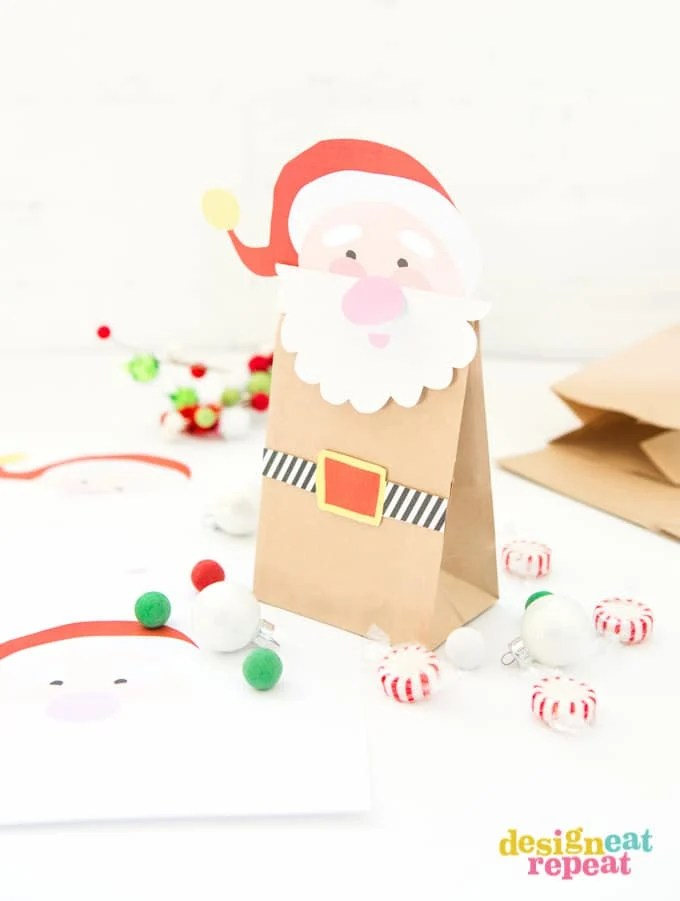Printable Santa Treat Bags - Design Eat Repeat