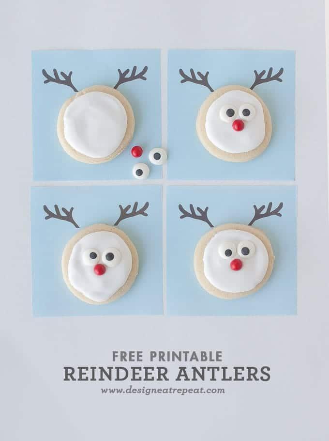 Reindeer Sugar Cookie Printable || A Christmas Cookie Decorating Idea