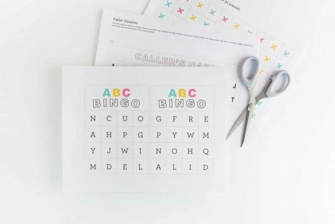 Free Printable Alphabet Bingo - Design Eat Repeat