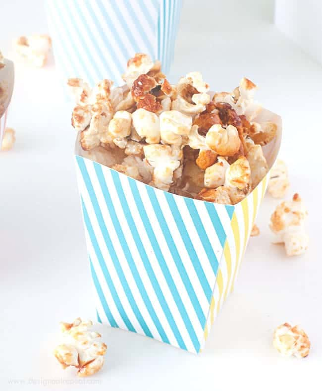 Free Printable Popcorn Box Template - Design Eat Repeat