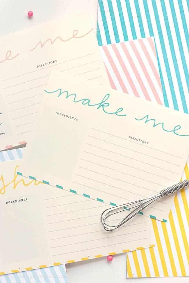 Free Printable Recipe Card Templates - Design Eat Repeat