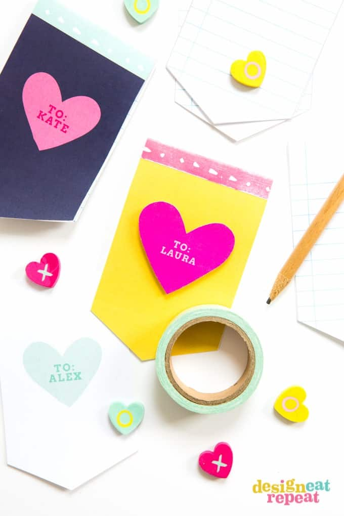 Mini Valentine\u0027s Day Printable Notepad - Design Eat Repeat