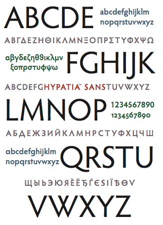 Hypatia Sans, by Thomas Phinney