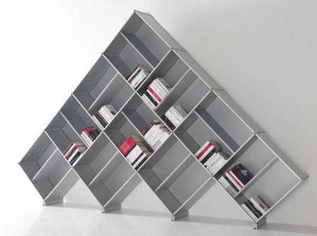 pyramid bookcase