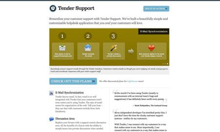 tender support