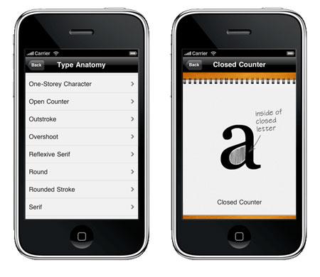 iphone app typography manual