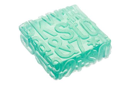 typography soap