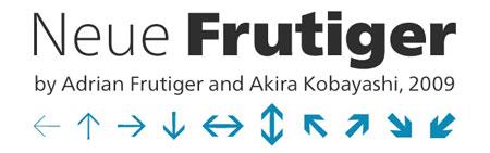 neue frutiger header