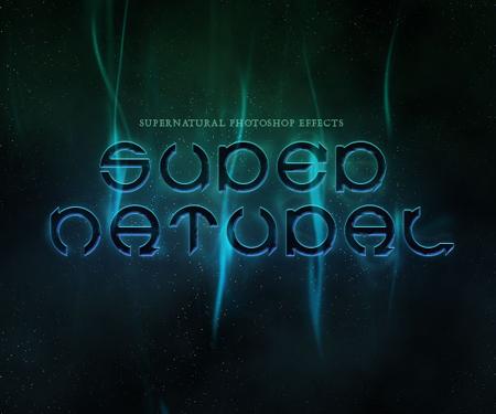 supernatural text effect