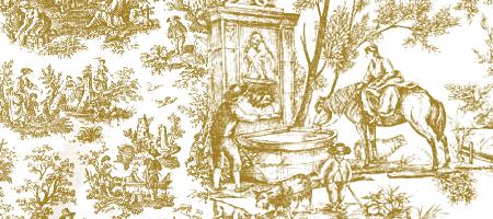 vintage toile