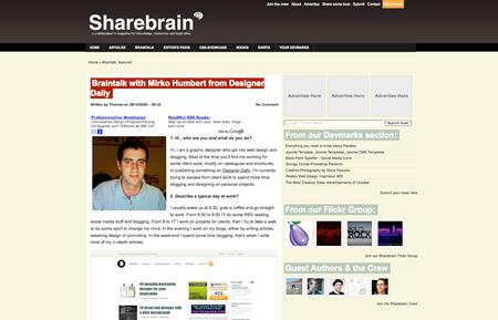 sharebrain interview screenshot