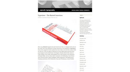 upscale typography screenshot