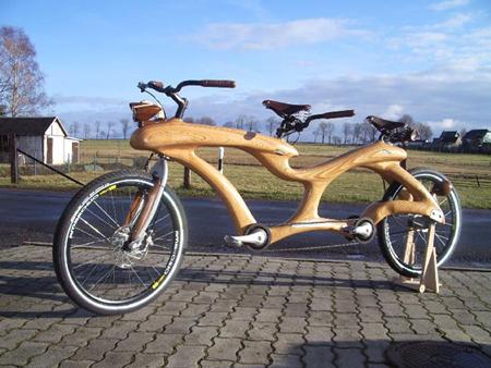 wooden bike