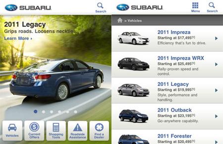 Subaru Mobile Site