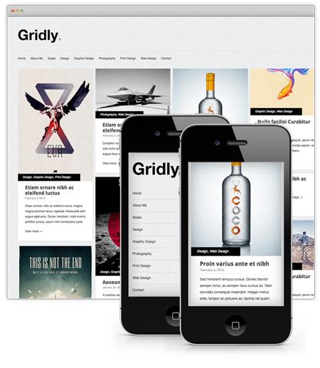gridly wordpress portfolio theme