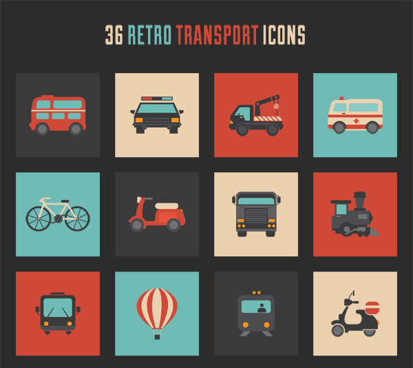 retro-transport-icon-set-small