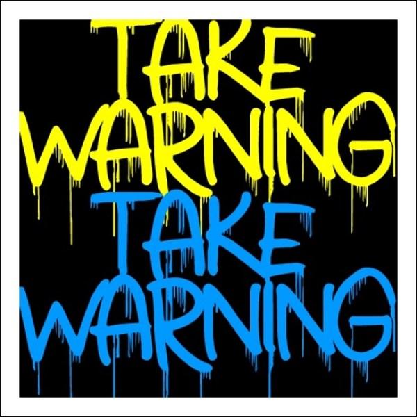 Take-Warning-font