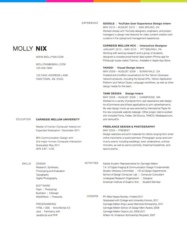 well designed resume examples