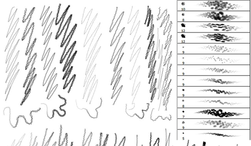 12 cool sets of free Photoshop pencil brushes