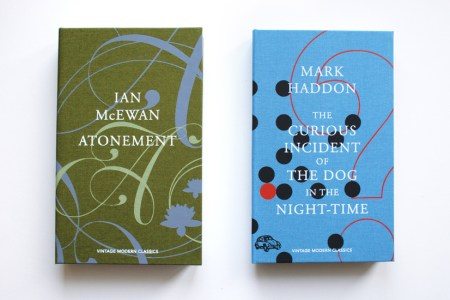 Clothbound covers for Atonement and The Curious Incident of the Dog in the Night-Time