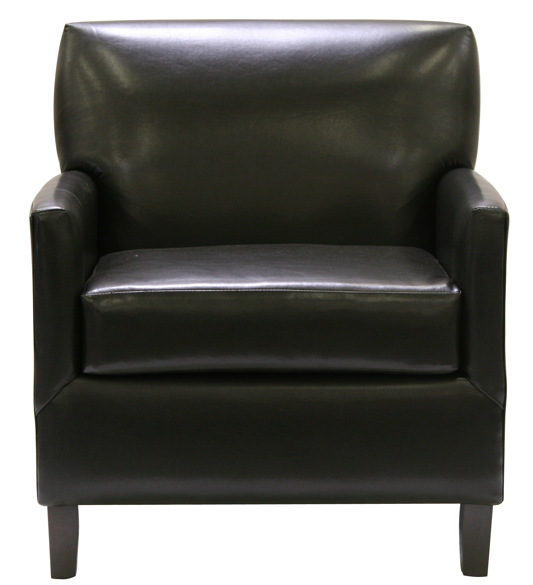 Executive club chair black leather designer8
