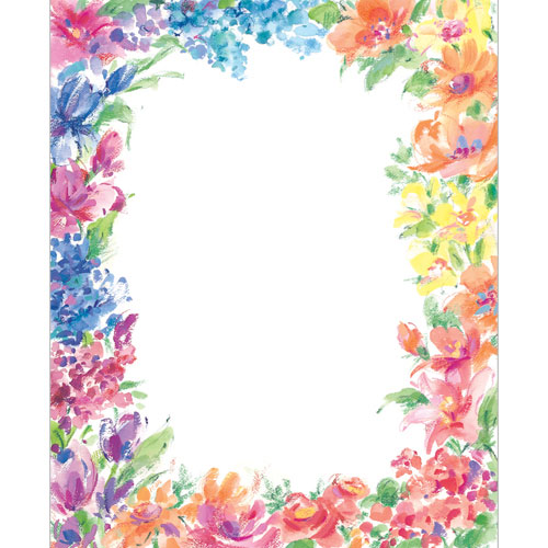 Floral stationery printer paper with flowers