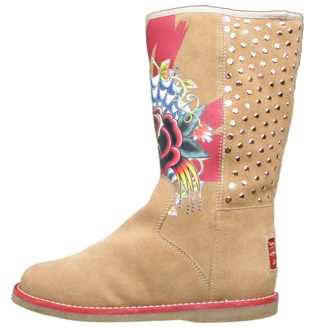 Ed Hardy Bootstrap Boot for Women - Tan