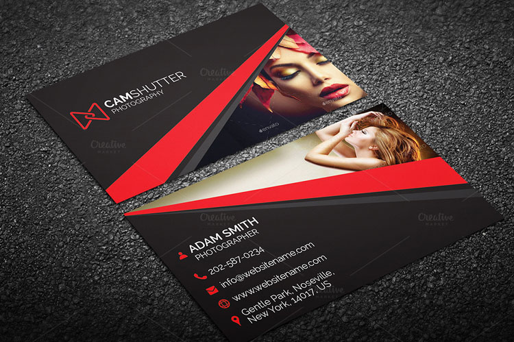 free photography business card templates