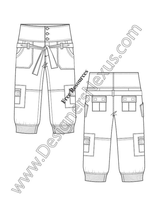 pants diagram