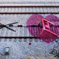 Railway artwork by Portuguese Artur Bordalo aka Bordalo II
