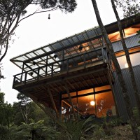 Titirangi House in the trees by Mercer and Mercer