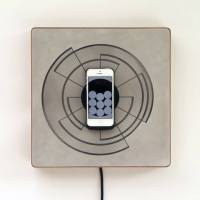 Introducing Spira iPhone charger and clock by Alice Robbiani