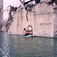 Hyper-realistic bathing ladies by surfer Hula
