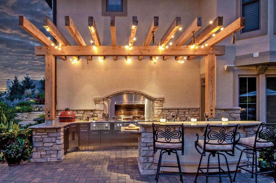 La cuisine d\u0027été \u2013 le centre fun and sympa du jardin pendant les - Cuisine D Ete Exterieure En Pierre
