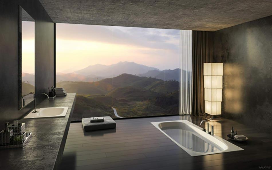 Salle de bain de luxe au design modern et chic Design Feria
