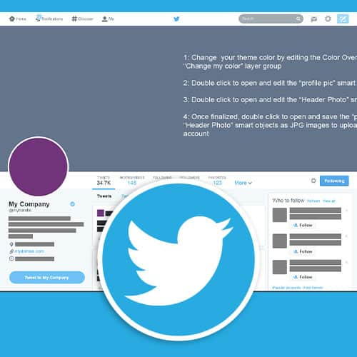 Twitter Profile Template Phases Design Studio